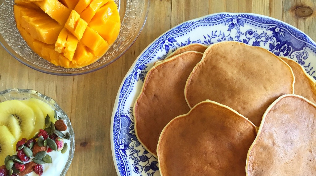 pancakes healthy bananes fromage blanc