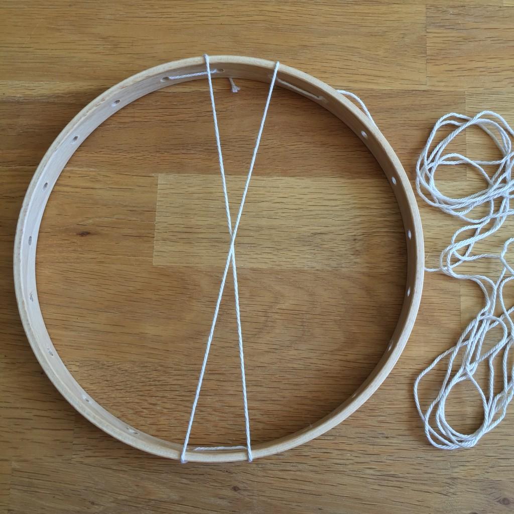 fil de chaine métier à tisser