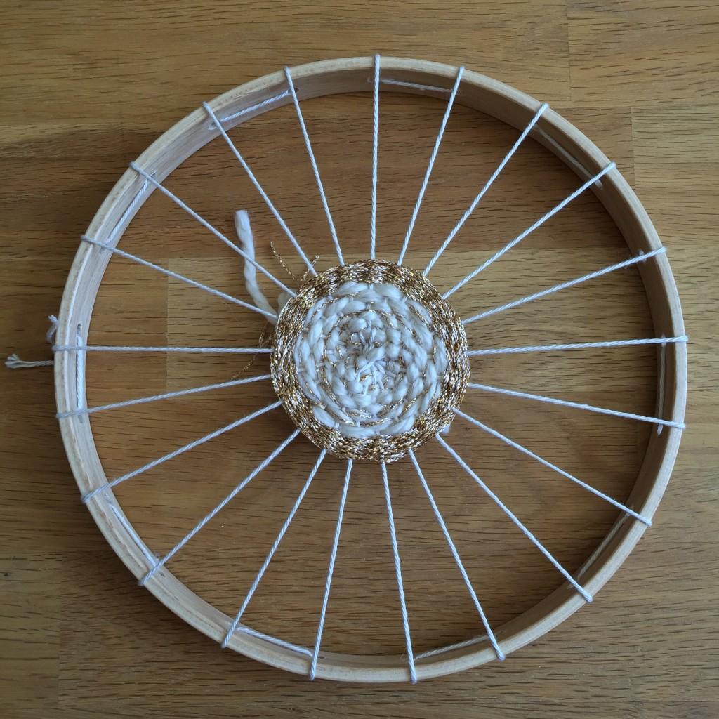 fil doré tissage circulaire