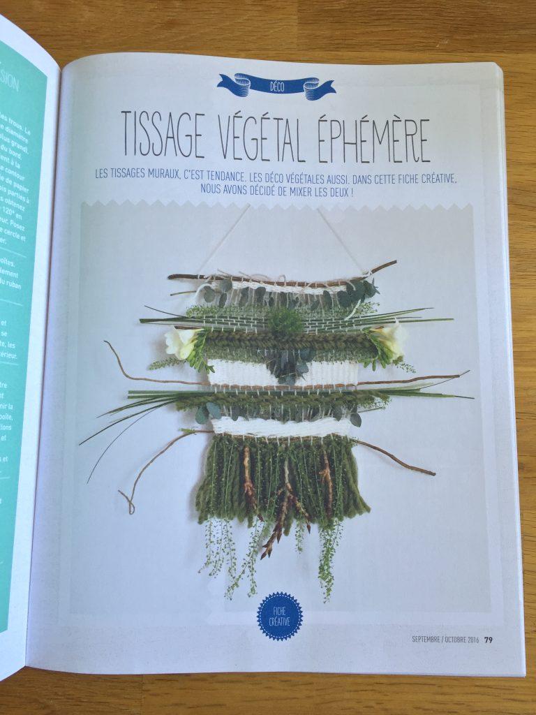 TISSAGE VEGETAL MAGAZINE CREATIVES